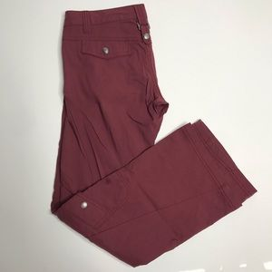 Athleta Dipper hiking pant in burgundy/wine sz 2p